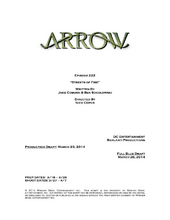 Arrow script title page - Streets of Fire