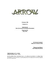 Arrow script title page - Vendetta