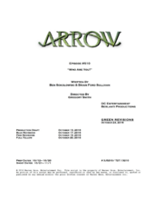 Arrow script title page - Who Are You?