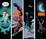 Rajeet lifting Barry through the air