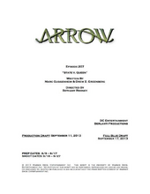Arrow script title page - State v. Queen