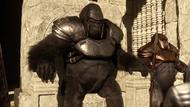 Grodd on the throne of Gorilla City (Earth-2)