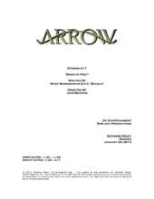 Arrow script title page - Birds of Prey