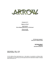 Arrow script title page - Birds of Prey