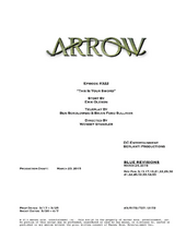 Arrow script title page - This Is Your Sword