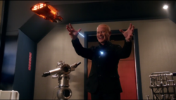 Darhk being attacked by the Waverider