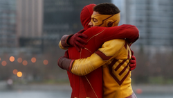 Barry hugs Wally