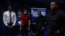 Dinah and the others tell Laurel to sit the mission out