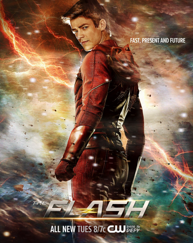 File:The Flash season 2 poster - Fast, Present and Future.png