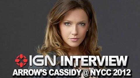 Arrow - Katie Cassidy on Black Canary - NYCC 2012