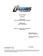 DC's Legends of Tomorrow script title page - Shogun