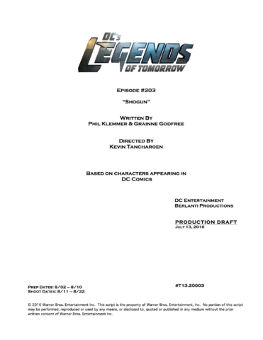 File:DC's Legends of Tomorrow script title page - Shogun.png