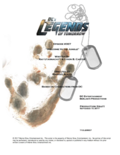 DC's Legends of Tomorrow script title page - Welcome to the Jungle