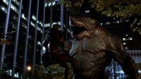 King Shark tries to eat Barry