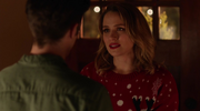 Patty Spivot and Barry Allen in Christmas Party (1)