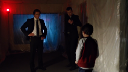 Agent Smith threatening young Ray Palmer
