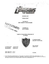 DC's Legends of Tomorrow script title page - Helen Hunt