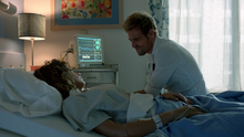 John Constantine stay with Zed Martin in hospital