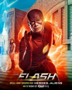 The Flash season 3 poster - Special 4 Night Crossover Event Heroes v Aliens