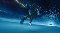 Savitar traveling through a breach