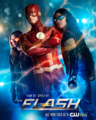 The Flash season 4 poster - Team Up. Speed Up..png