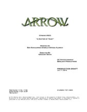 Arrow script title page - A Matter of Trust