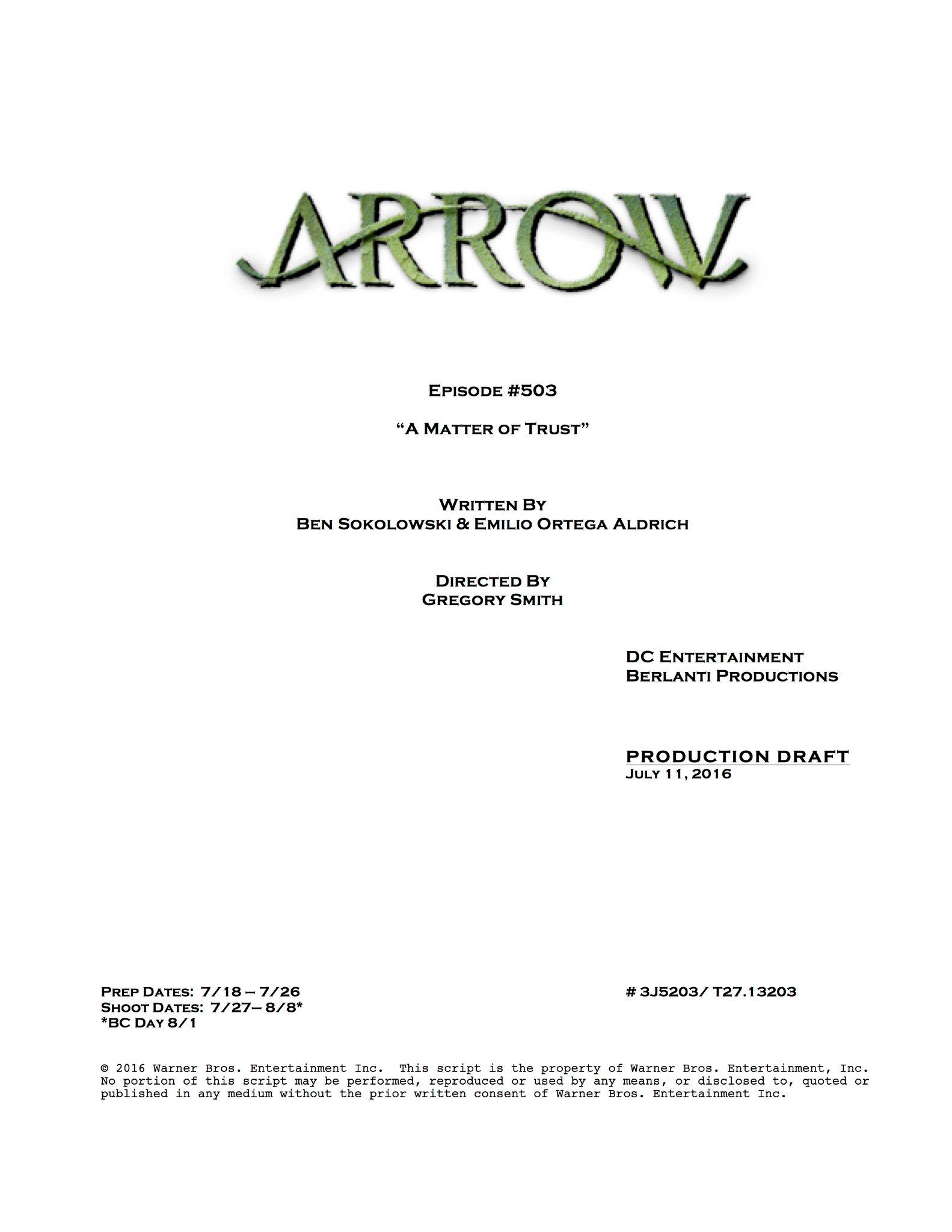 arrow script title page a matter of trustpng