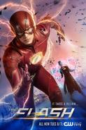 The Flash season 4 poster - It Takes a Villain...