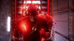 Earth-90 Barry sacrifices himself