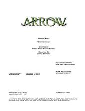 Arrow script title page - Brotherhood