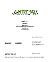 Arrow script title page - Canaries