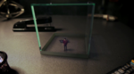 Small Ray Palmer in glass cube