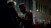Flash and Trickster first met and fight
