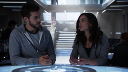 Imra and Mon-El speak to the DEO