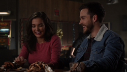 Imra and Mon-El out on a rib date at the alien bar