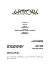 Arrow script title page - Sacrifice