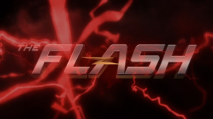 The Reverse Flash's lightning flashing across the screen