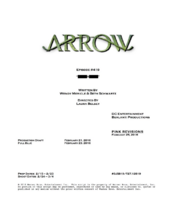 Arrow script title page - Canary Cry
