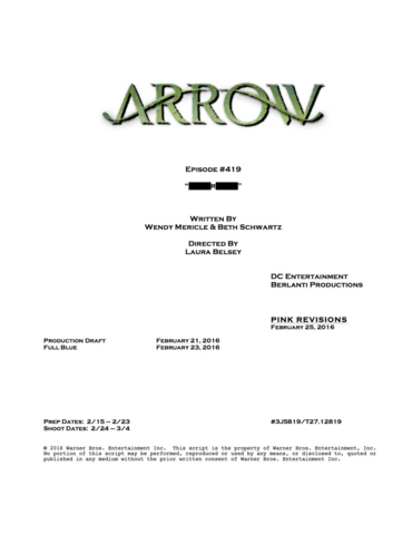 File:Arrow script title page - Canary Cry.png