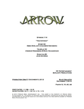 Arrow script title page - The Odyssey