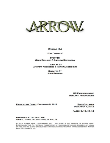 File:Arrow script title page - The Odyssey.png