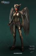 Hawkgirl concept art