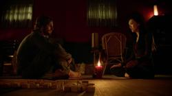 Tatsu teaches meditation to Oliver