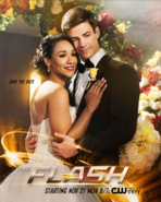 The Flash season 4 poster - Save the Date