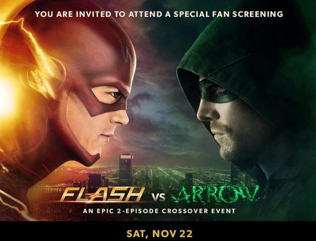 File:The Flash vs Arrow fan screening promo.png