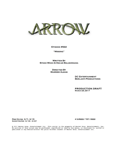 File:Arrow script title page - Missing.png