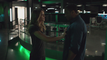 Dinah confronts Diggle about his lies