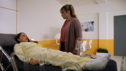 Nora and Lia in the hospital