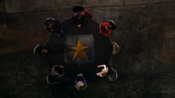Os sete heróis reunidos