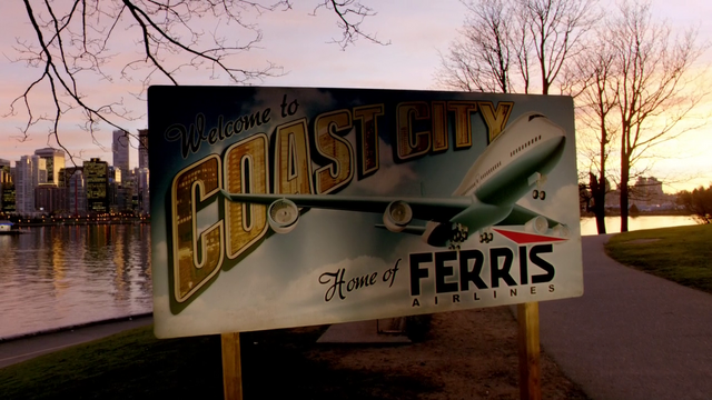 File:Coast City welcome sign featuring Ferris Airlines.png